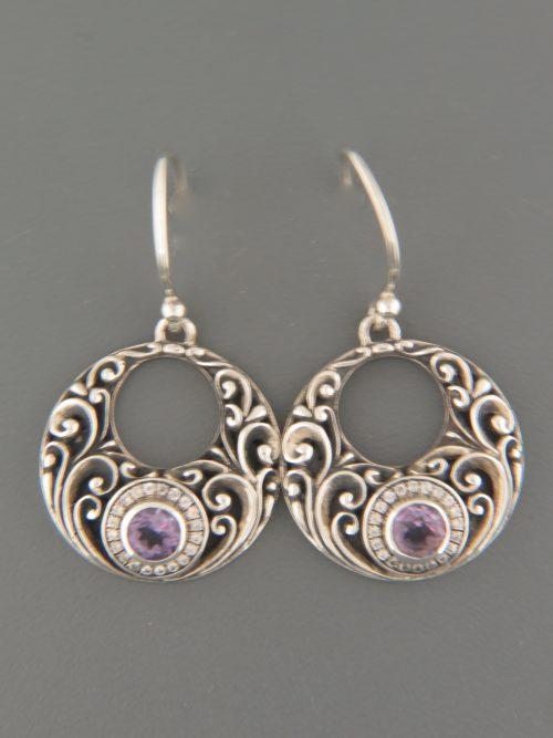 Amethyst Earrings - Sterling Silver - A510