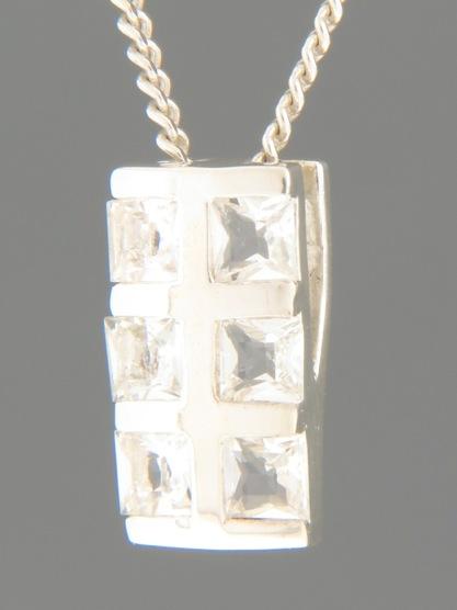 Zircon Pendant - Sterling Silver - Z428