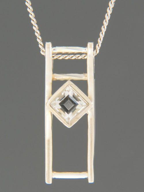 Zircon Pendant - Sterling Silver - Z425