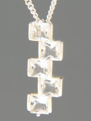 Zircon Pendant - Sterling Silver - Z415