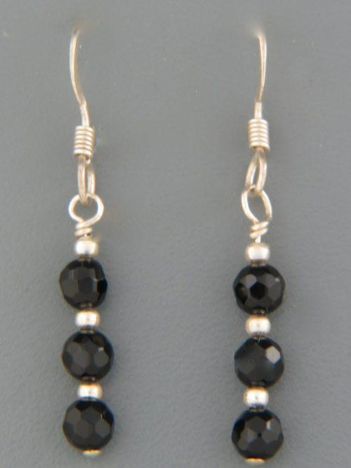 Onyx Earrings - Sterling Silver - OX517