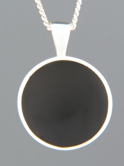 Onyx Pendant - Sterling Silver - OX436