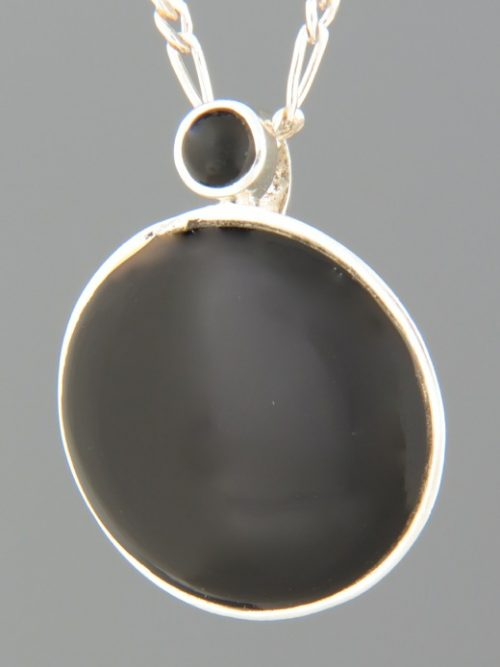 Onyx Pendant - Sterling Silver - OX445