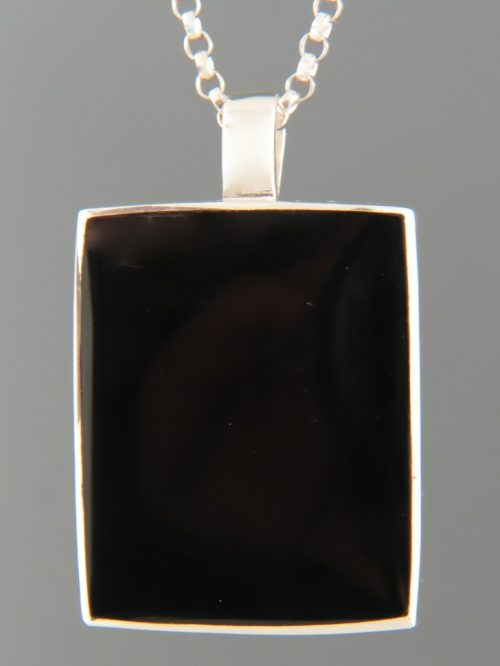 Onyx Pendant - Sterling Silver - OX438