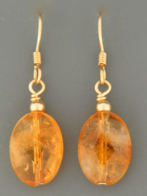 Citrine Earrings - 14ct Gold Filled - C512G