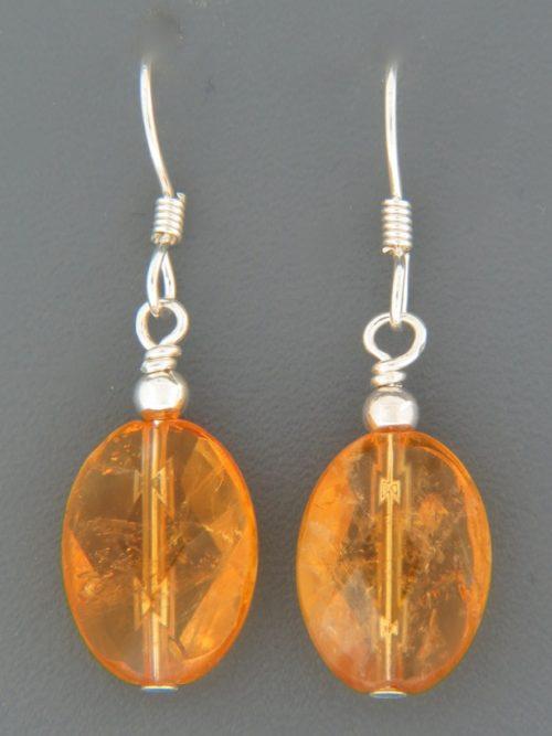 Citrine Earrings - Sterling Silver - C512