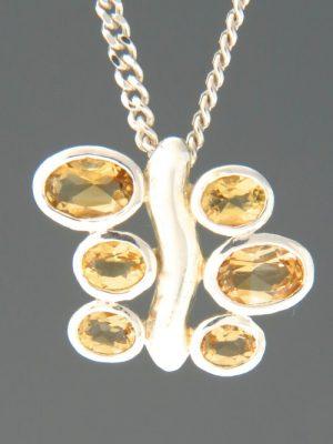 Citrine Pendant - Sterling Silver - C409
