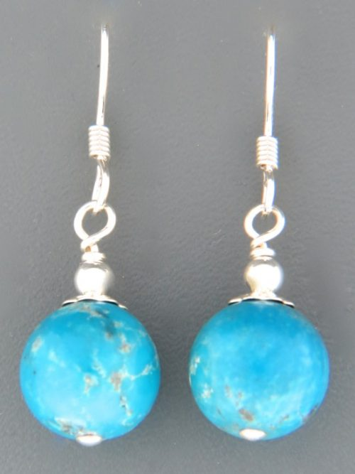 Turquoise Earrings - Sterling Silver - TQ528