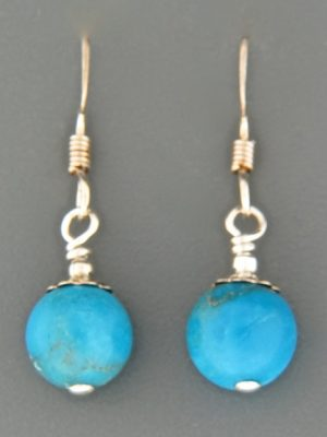 Turquoise Earrings - Sterling Silver - TQ529