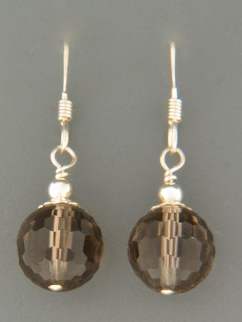 Smokey Quartz Earrings - Sterling Silver - SQ501