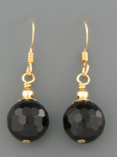 Onyx Earrings - 14ct Gold Filled - OX507G