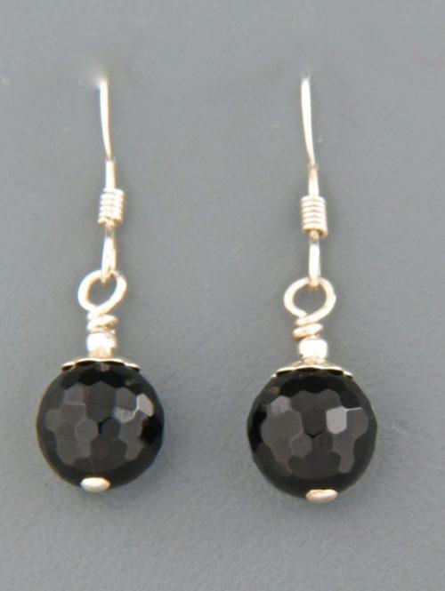 Onyx Earrings - Sterling Silver - OX530