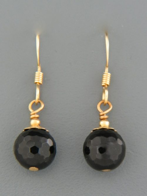 Onyx Earrings - 14ct Gold Filled - OX530G