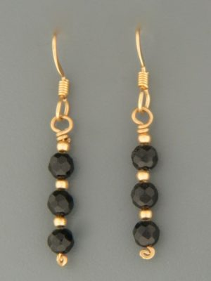 Onyx Earrings - 14ct Gold Filled - OX517G