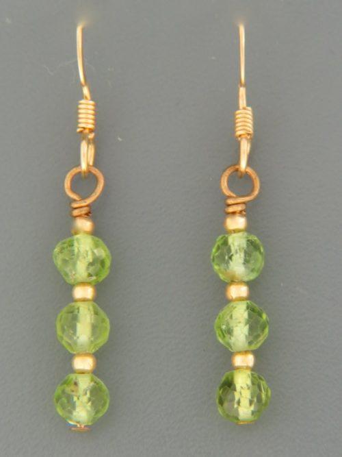 Peridot Earrings - 14ct Gold Filled - P508G