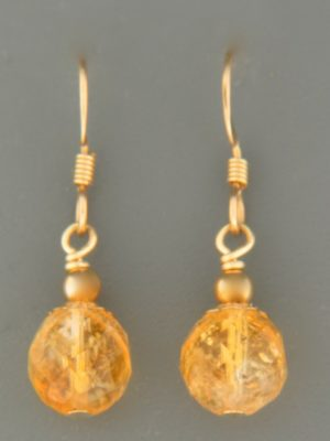 Citrine Earrings - 14ct Gold Filled - C514G