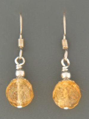 Citrine Earrings - Sterling Silver - C514