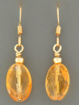 Citrine Earrings - 14ct Gold Filled - C517G
