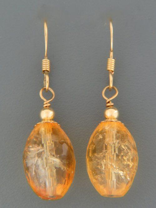 Citrine Earrings - 14ct Gold Filled - C518G
