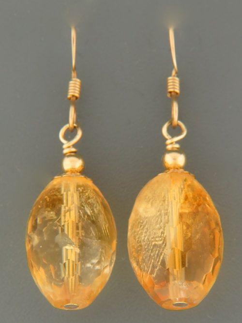 Citrine Earrings - 14ct Gold Filled - C519G