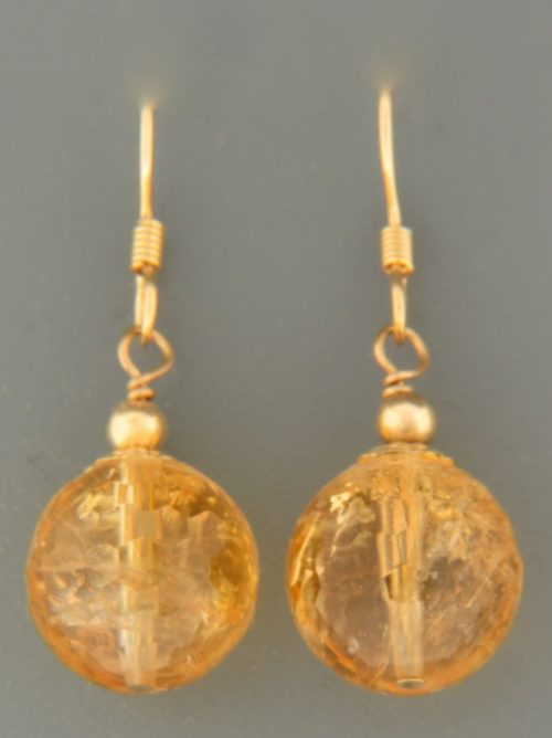 Citrine Earrings - 14ct Gold Filled - C515G
