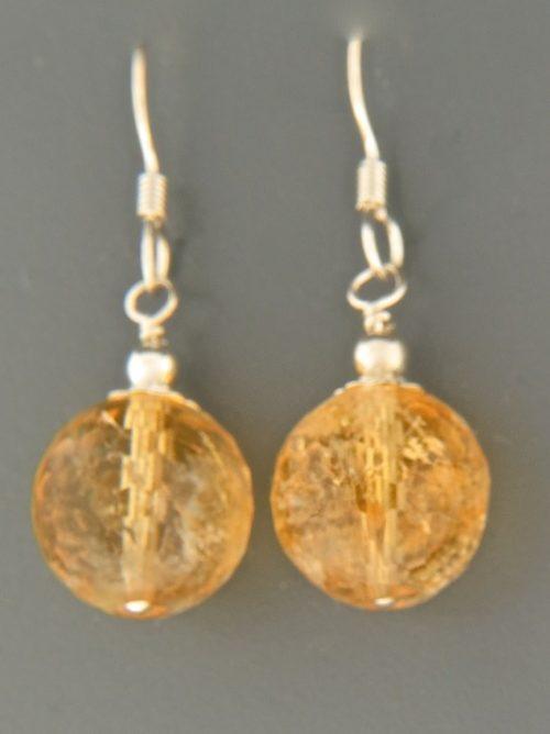 Citrine Earrings - Sterling Silver - C515