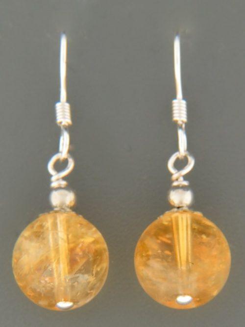 Citrine Earrings - Sterling Silver - C516