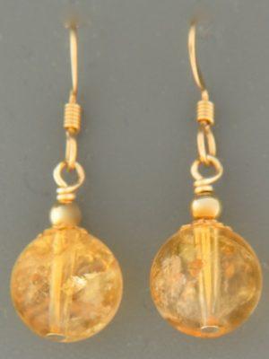 Citrine Earrings - 14ct Gold Filled - C516G