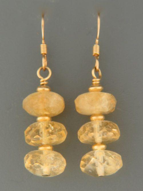 Citrine Earrings - 14ct Gold Filled - C522G