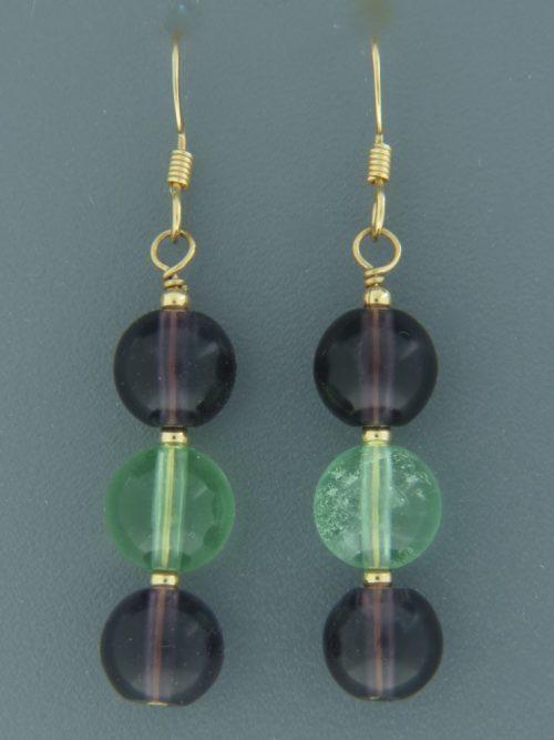Fluorite Earrings - 14ct Gold Filled - F512