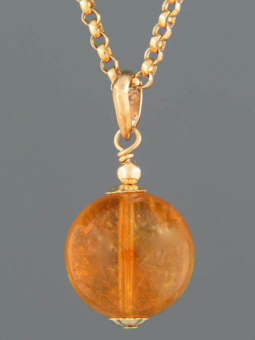 Citrine Pendant - 9ct Gold - C337