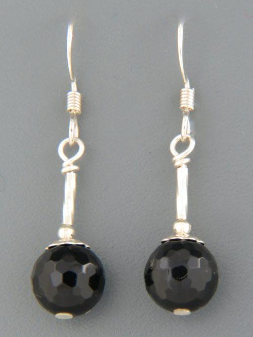 Onyx Earrings - Sterling Silver - OX508
