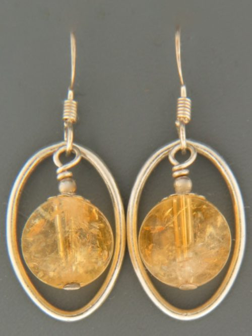 Citrine Earrings - Sterling Silver - C532
