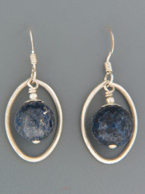 Lapis Lazuli Earrings - Sterling Silver - LL527