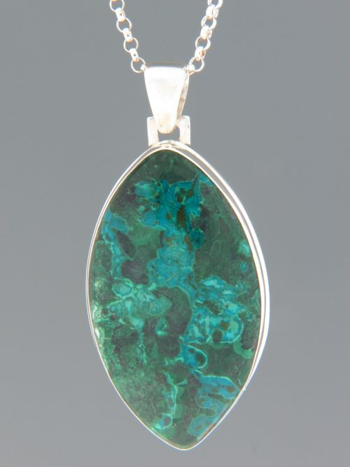 Chrysocolla & Malachite Pendant - Sterling Silver - CHR302