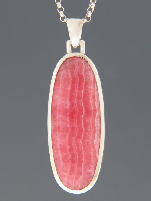 Rhodochrosite Pendant - Sterling Silver - RH305