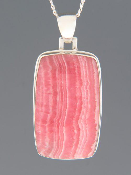 Rhodochrosite Pendant - Sterling Silver - RH304