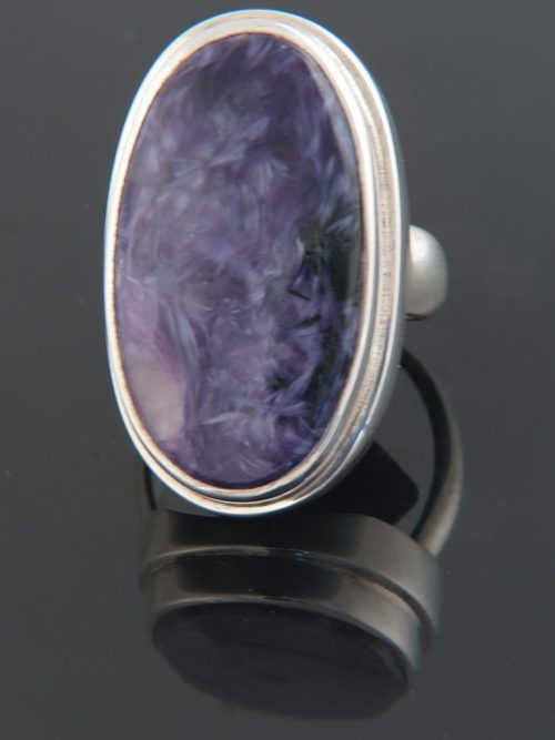 Charoite Ring - Sterling Silver - CH105R