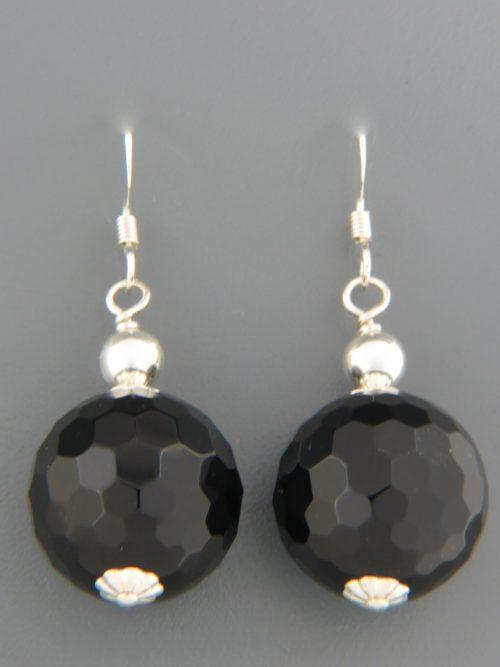Onyx Earrings - Sterling Silver - length 42mm - OX501