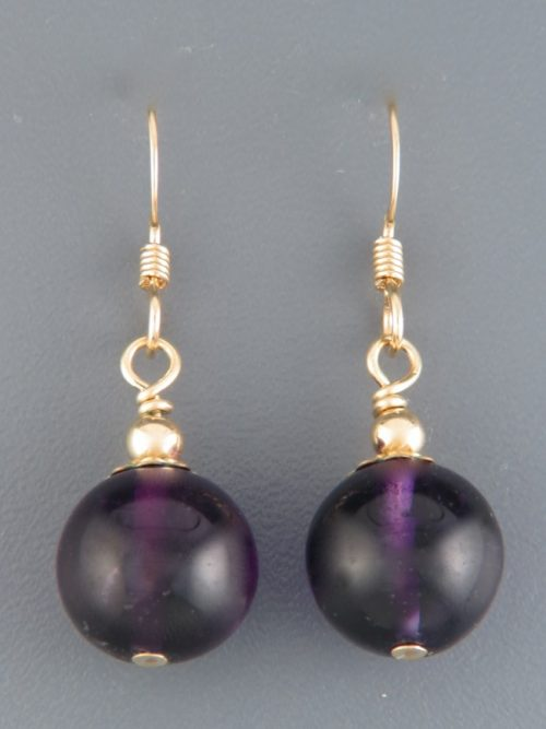 Amethyst Earrings - 14ct Gold Filled - A571G