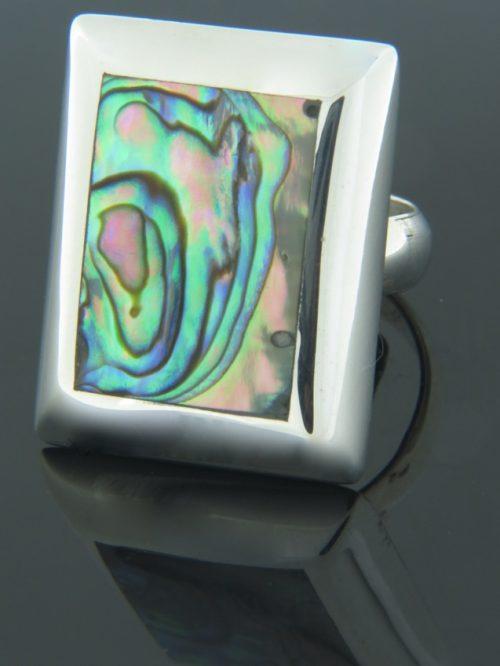 Paua Shell Ring - Sterling Silver - PA105R