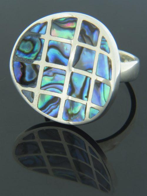 Paua Shell Ring - Sterling Silver - PA112R