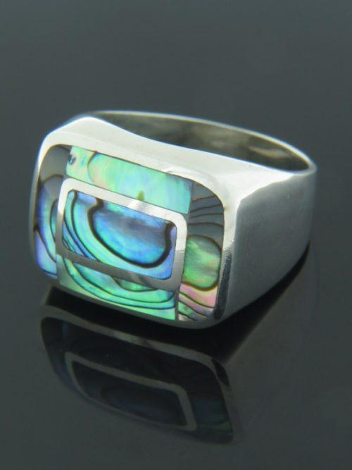 Paua Shell Ring - Sterling Silver - PA106R