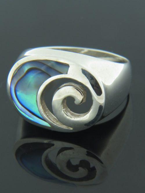 Paua Shell Ring - Sterling Silver - PA107R