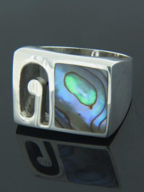 Paua Shell Ring - Sterling Silver - PA108R