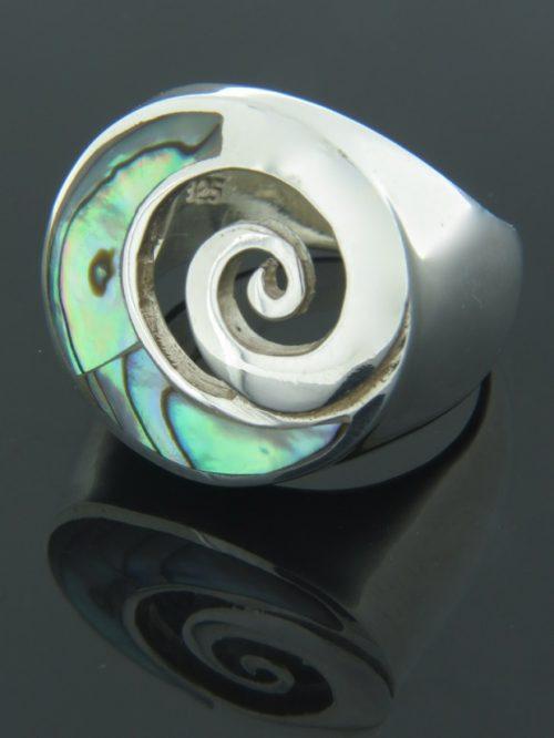 Paua Shell Ring - Sterling Silver - PA109R