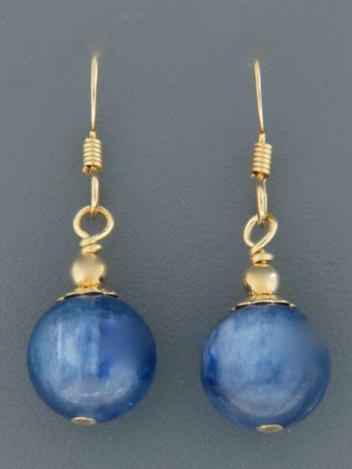 Kyanite Earrings - 14ct Gold Filled - 11mm stones - K511G