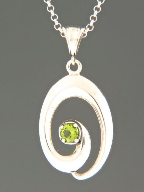 Peridot Pendant - Sterling Silver - P340