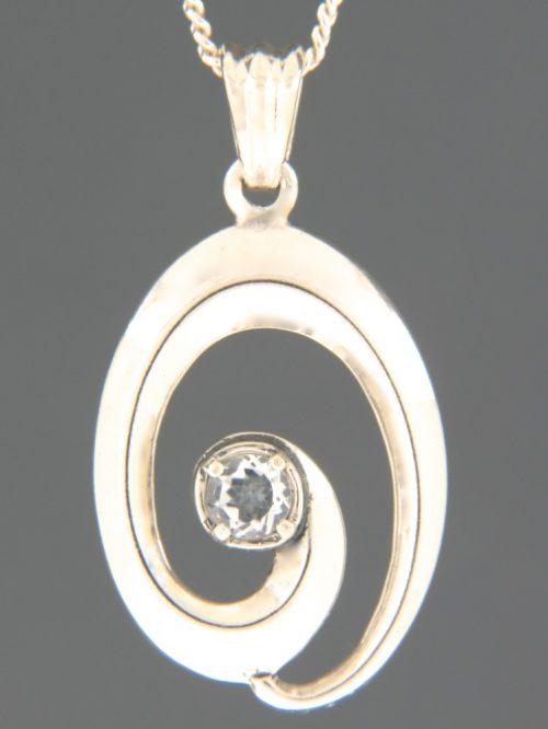 Zircon Pendant - Sterling Silver - Z334