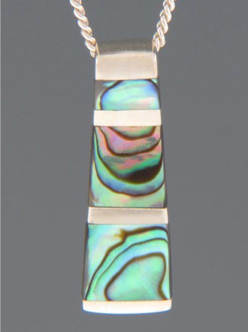 Paua Shell Pendant - Sterling Silver - PA351